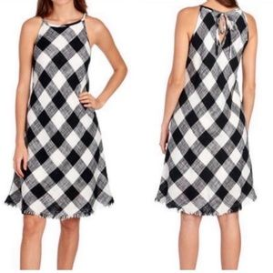 Philosophy Black White Plaid Dress